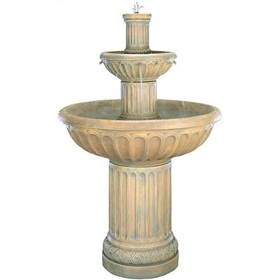 Henri Studio Tiered Cast Stone Fluted Waterfall Fountain
