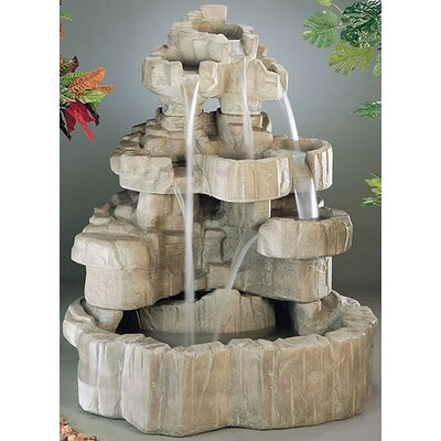 Henri Studio Nature Cast Stone Medium Rock Falls Fountain