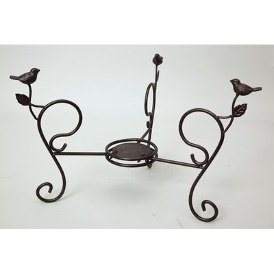 Evergreen Enterprises, Inc Bird Bath Stand Short with Birds