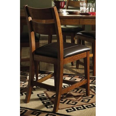 Klaussner Furniture Urban Craftsmen Barstool in Rich Golden Stain