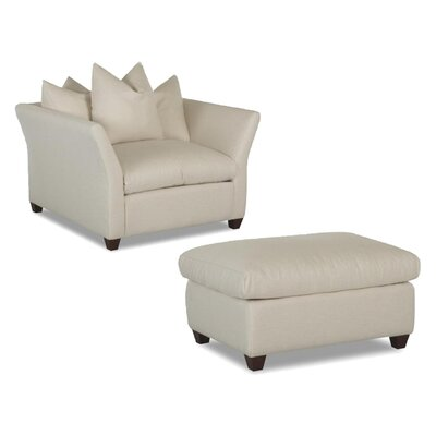 Fifi Fabric Arm Chair and Ottoman