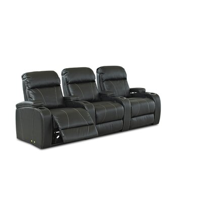 Showcase-Us Home Theater Bonded Leather Recliner (Row of 3)