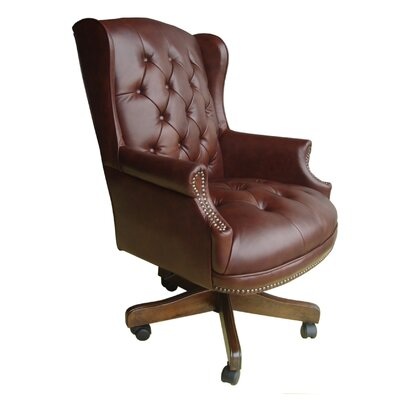 Parker House Furniture Home Office High-Back Leather Executive Chair with Tufting