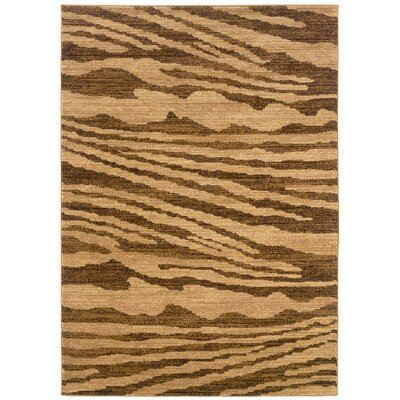 Opulence Cream/Light Brown Woodgrain Inspired Rug