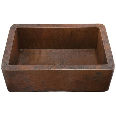 Toscana Hand Hammered Copper Single Bowl Farmhouse Sink