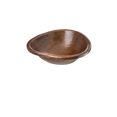 Triangle Matisse Hand Hammered Copper Bathroom Sink