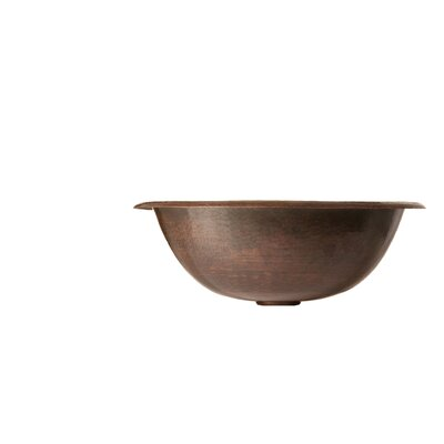 Black Copper Alder Hand Hammered Bathroom Sink