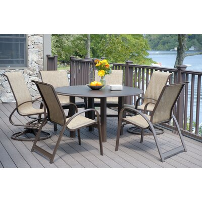 Quick Ship Primera Sling 7 Piece Dining Set