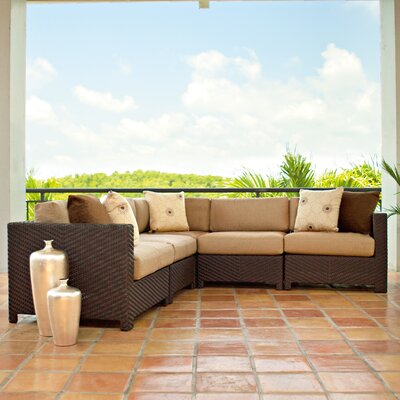 Telescope Casual La Vie Deep Seating Sectional Sofa with Cushions