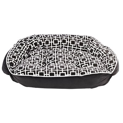 Diam Microvelvet Crescent Dog Bed