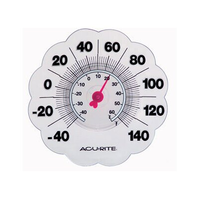 Accurite Transparent Suction Cup Thermometer