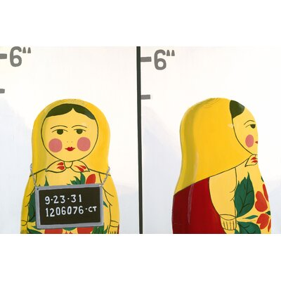 emma at home by Emma Gardner Matryoshka Mug Shot Giclee Print Art