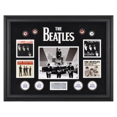 "Mounted Memories The Beatles ""On The Ed Sullivan Show"" Framed Presentation - 21.5"" X 27"""