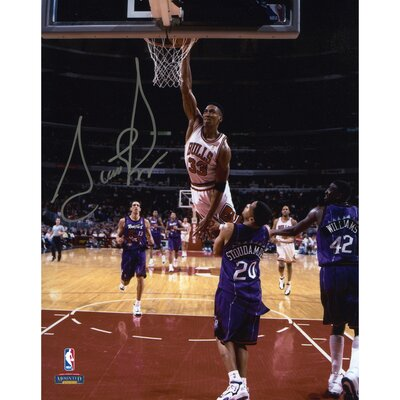 Mounted Memories Scottie Pippen Chicago Bulls vs Toronto Raptors Autographed Photograph