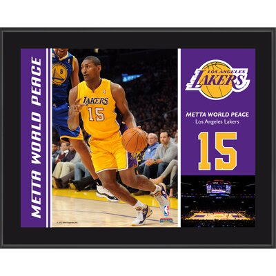 Mounted Memories Metta World Peace Los Angeles Lakers Sublimated Player Photo Plaque