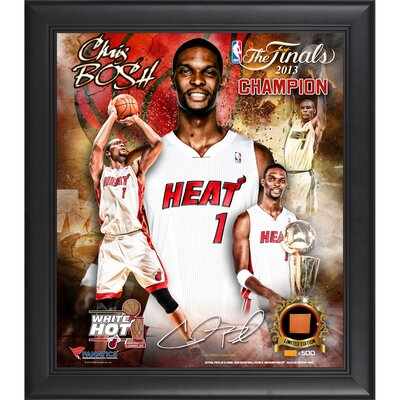 Miami Heat NBA 2013 Champions Framed Multi-Photo Collage with Game-Used Basketball Piece