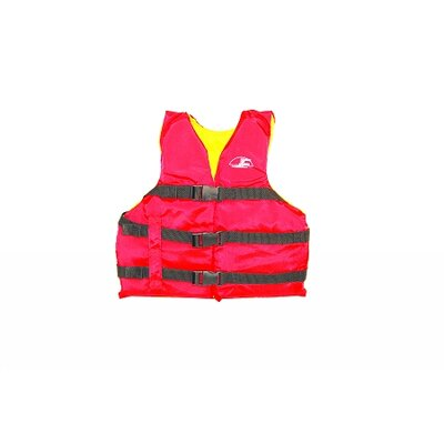 Life Youth Vest in Red / Yellow