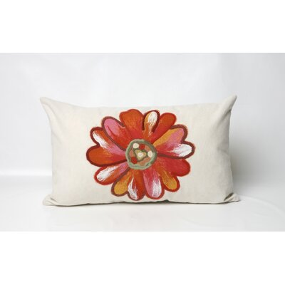 Liora Manne Daisy Rectangle Indoor/Outdoor Pillow in Orange