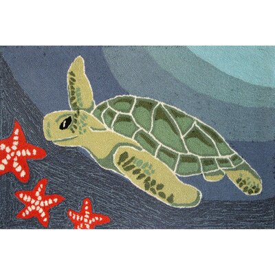 Liora Manne Frontporch Ocean Sea Turtle Rug