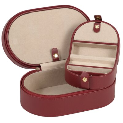 Wolf Designs Heritage Chelsea Oval Zip Travel Case in Scarlet