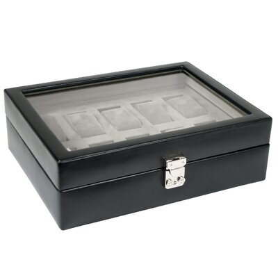 Wolf Designs Heritage Watch Storage Boxes Ten Piece Watch Storage Box with Cover in Black