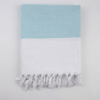 Nine Space Ayrika Thin Stripe Fouta Towel in Turquoise