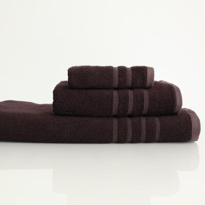 Nine Space Bamboo 3 Piece Lavish Towel Set in Black