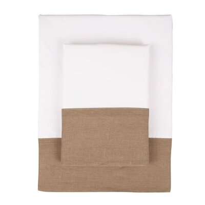 Nine Space Linen Border 300 Thread Count Bamboo Sheet Set in Brown