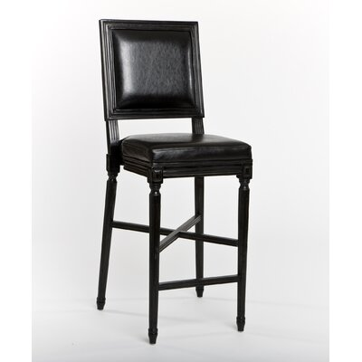 French Bar Stool in Antique Black