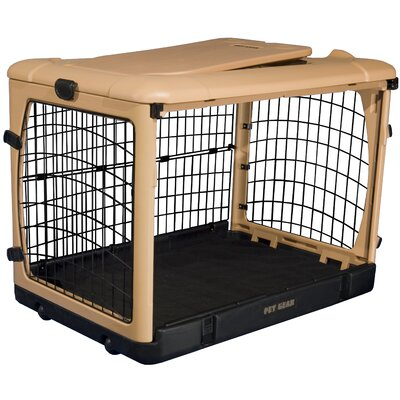 Pet Gear Deluxe Steel Dog Crate in Tan