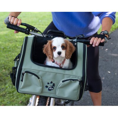 Pet Gear Bike Basket 3-in-1 Pet Carrier in Sage
