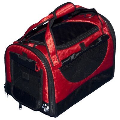 World Traveler Tote Bag Pet Carrier in Ruby Red