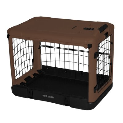 Pet Gear The Other Door Deluxe Steel Crate in Tan and Black