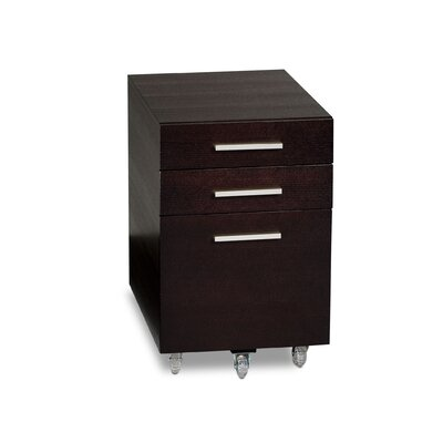 BDI Sequel Three Drawer Low Mobile File Pedestal
