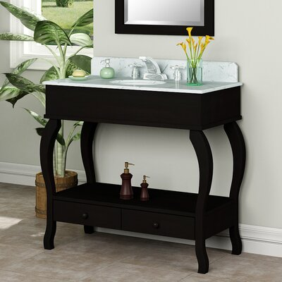 "Willow Creek Cabinets Provence 36"" Vanity Set with Viterous China Top"