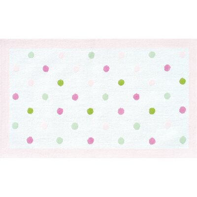 The Rug Market Polka Dots Pink Kids Rug