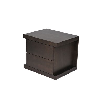 Pangea Home Taylor 2 Drawer Nightstand