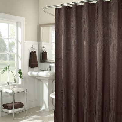 M. Style Waves Shower Curtain in Chocolate