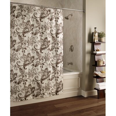 Blossom Batik Polyester Shower Curtain