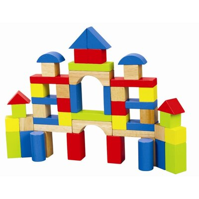 educo 50 Piece Rainbow Block Set