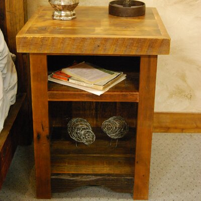 Timber Designs Sunset Meadow Nightstand with Shelves