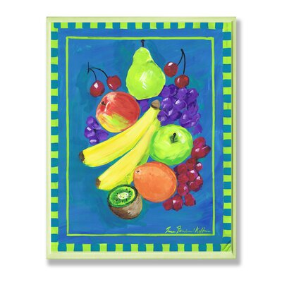 Stupell Industries Assorted Fruit with Blue and Green Kitchen Wall Plaque Set