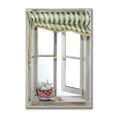 Stupell Industries Green Canopy Mirror Faux Window