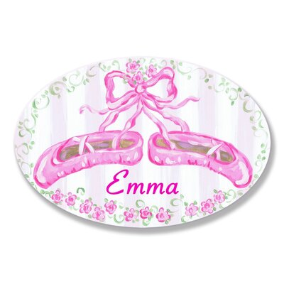 Stupell Industries Kids Room Personalization Ballet Slippers Wall Plaque