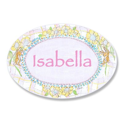 Stupell Industries Kids Room Personalization Rabbit Wall Plaque