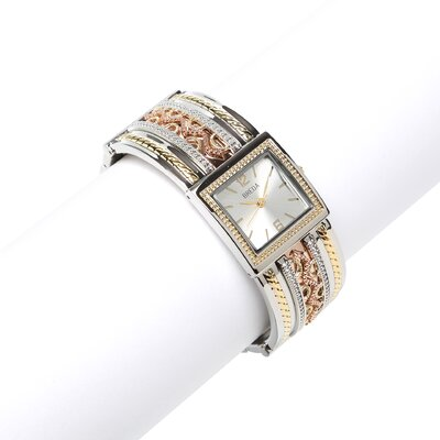 Women's Scarlett Ornate Vintage Bangle Watch in Tritone