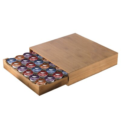 Creative Home Bamboo Single Serve Deluxe Heavy Duty Coffee Pod Drawer