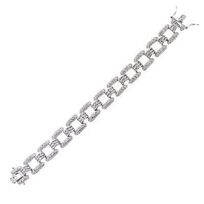 CZ Collections Hollywood Diamond (.925) Sterling Silver Bracelet Jewelry
