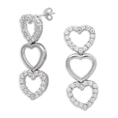 Trio Heart Drop Earrings