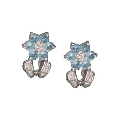 Blue Topaz (.925) Sterling Silver Earrings